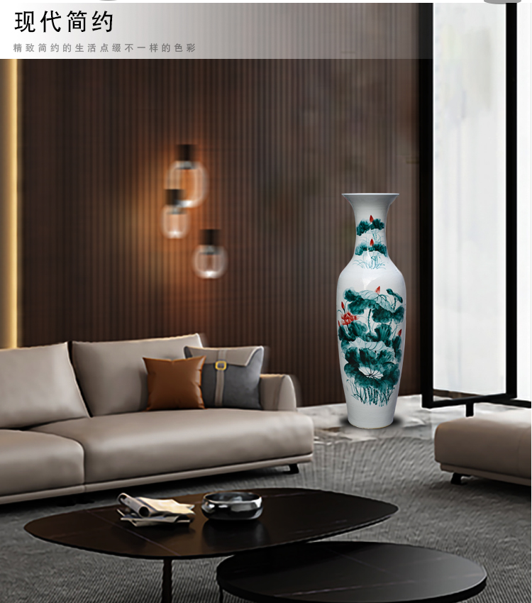 Jingdezhen ceramic hand - made years more than large vases, the sitting room TV ark hotel lobby furnishing articles decorations