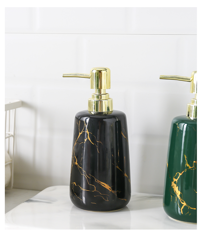 样板房浴室沐浴露瓶分装瓶乳液按压瓶化妆室陶瓷洗手液瓶详细照片