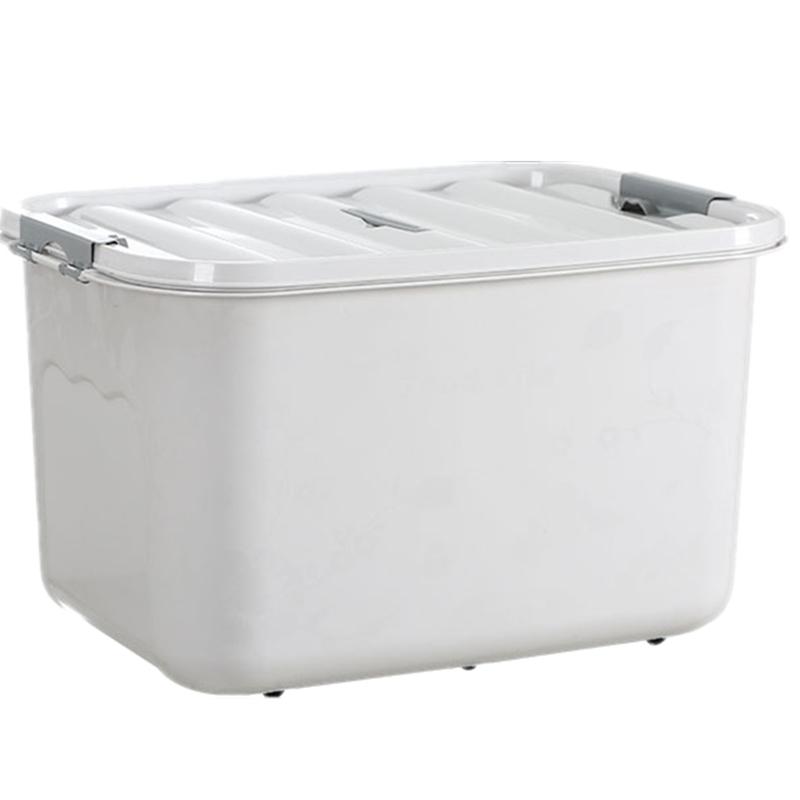 整理箱收纳箱加厚抗压特厚塑料特大号零食玩具衣服车载有盖储物箱