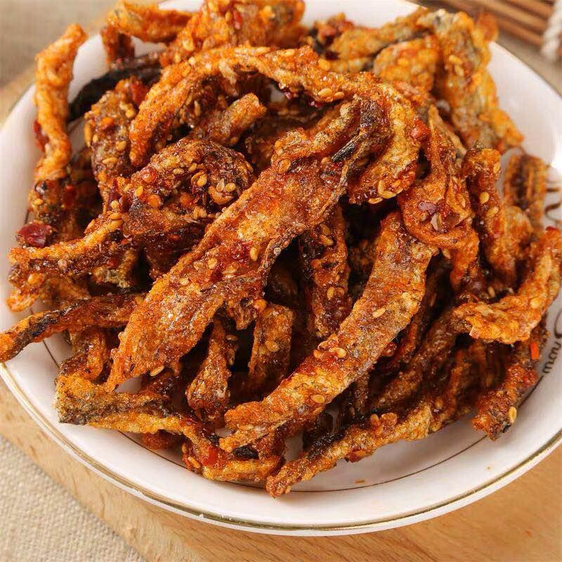 甜香麻辣鱼皮开袋即食鱼皮休闲零食经典美味小吃味鱼制品