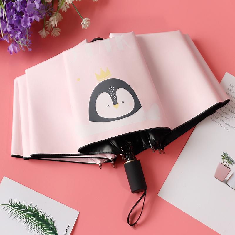 雨伞女小清新INS创意可爱卡通学生少女心遮阳晴雨两用防晒太阳伞