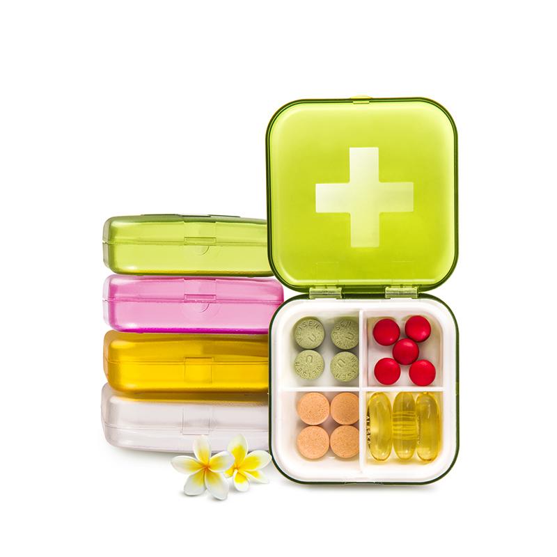 【买一送一】便携密封进口环保PP药盒
