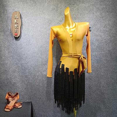 Latin Dance Dress Female Suit Liusu Dress Dance Practice Dress Latin Dance Skirt