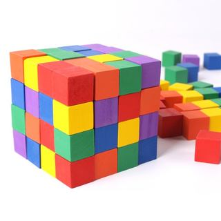 Learning first-year wood blocks 2-3-4 cm cube cube assembly kit teaching children Quartet