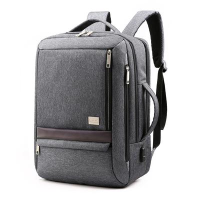 秋冬新款商务男士笔记本电脑双肩背包USB充电尼龙耐磨防水手提包