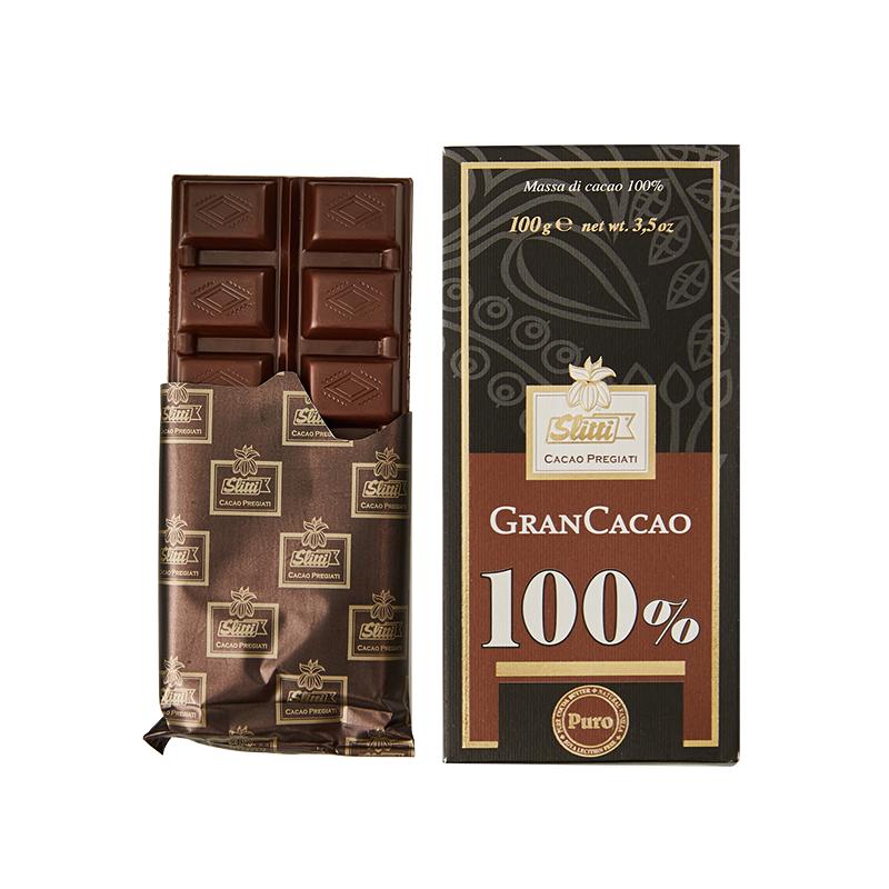 Slitti\\\/丝丽缇 100%可可黑巧克力排块100g意大利进口0无糖巧克力