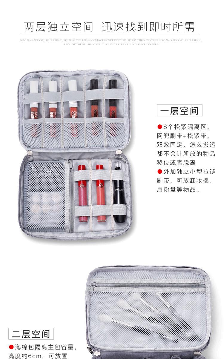 新款网红化妆包女可携式大容量超大随身旅行超火双层高颜值详细照片