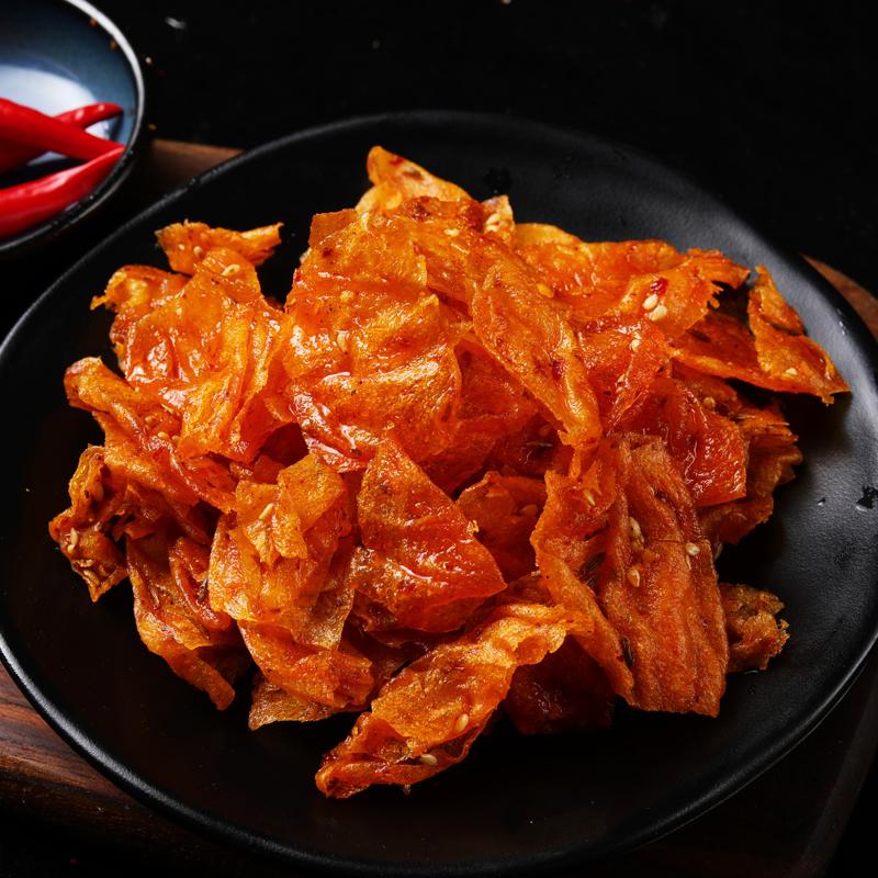 湖南特产豆皮辣片零食小吃3包