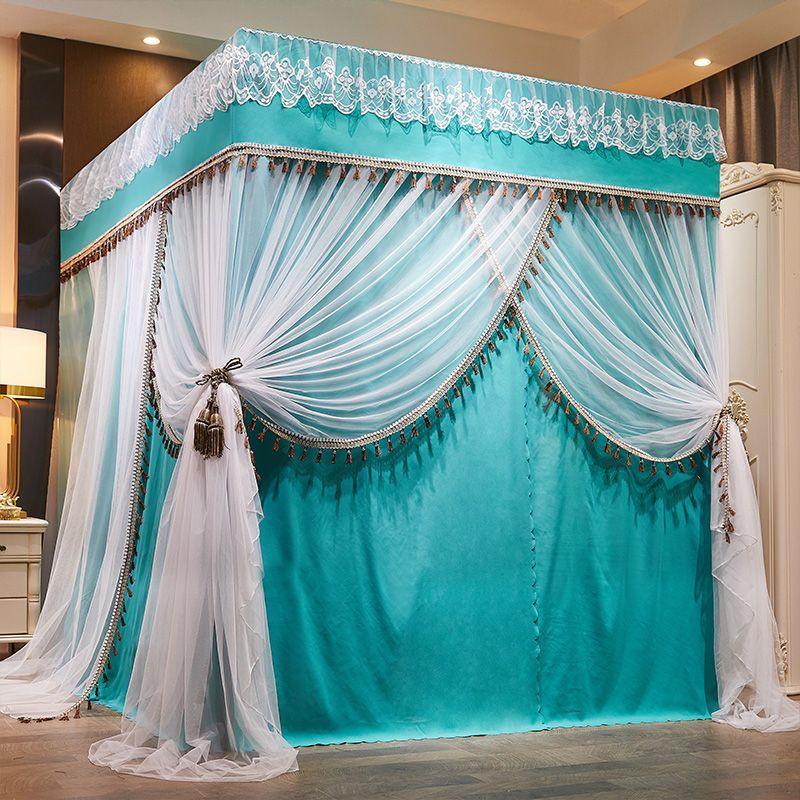 Tấm vải che sàn lưới mùng 1,5 rèm phòng ngủ nhà phòng ngủ 1,8m2 giường chống bụi mái mùa đông rèm cửa ấm áp - Bed Skirts & Valances