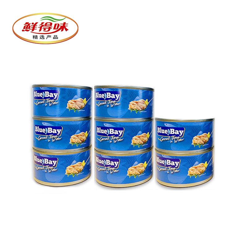 菲律宾进口 180gx8罐 Bluebay蓝湾水浸金枪鱼罐头