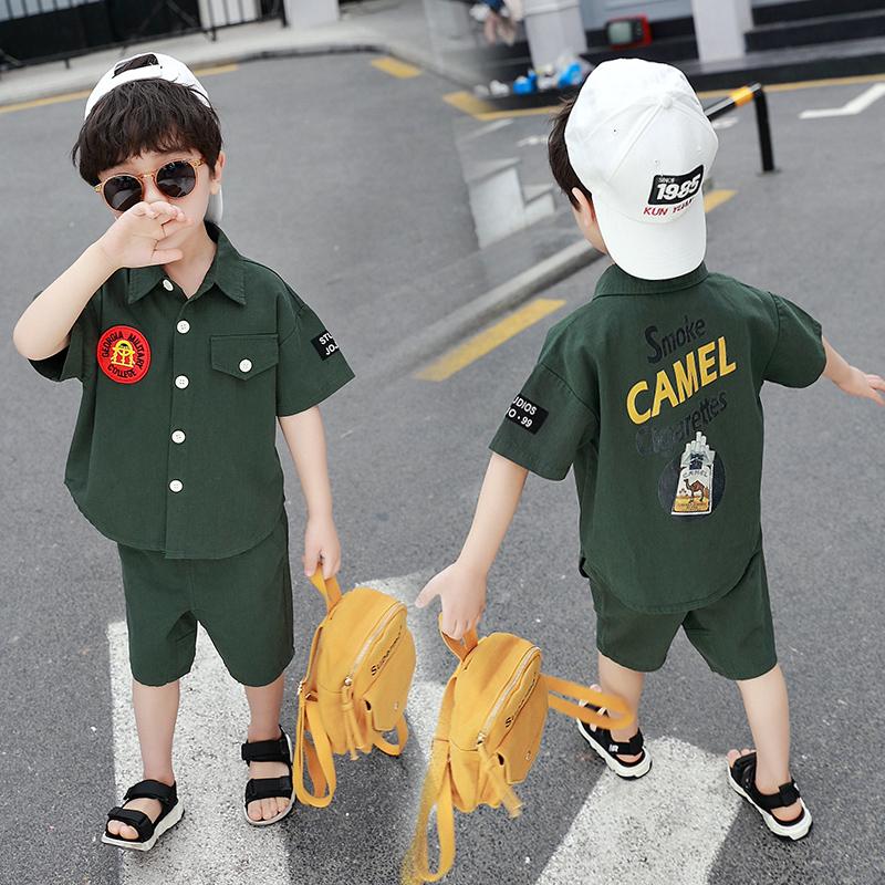 男童套装夏装2019新款夏季潮童装洋气韩版帅气中小童儿童两件套装