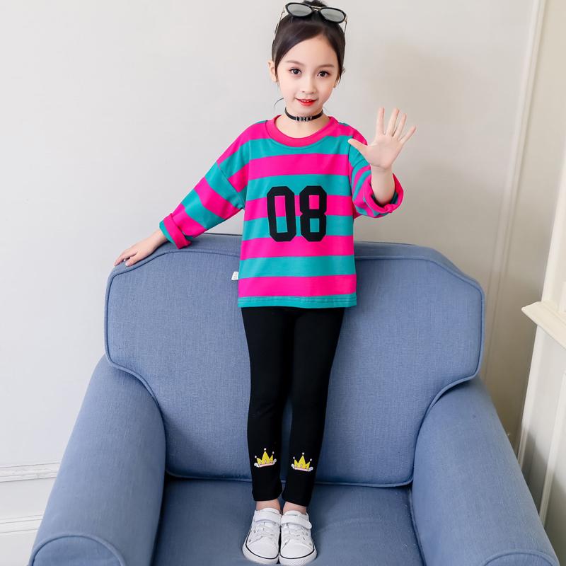 【时尚范两件套】网红洋气小孩儿童秋季套装10月15日最新优惠