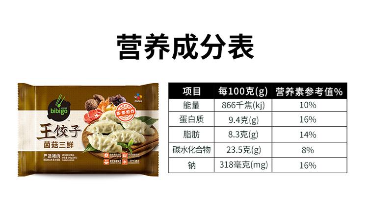 天猫超市 必品阁 菌菇三鲜馅韩式速冻水饺 840g/袋 图11