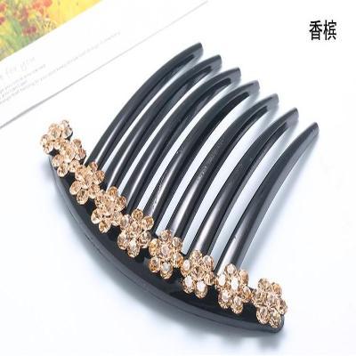 插梳发梳盘头发饰头饰盘发发夹水钻发卡发插珍珠韩国头发饰品包邮