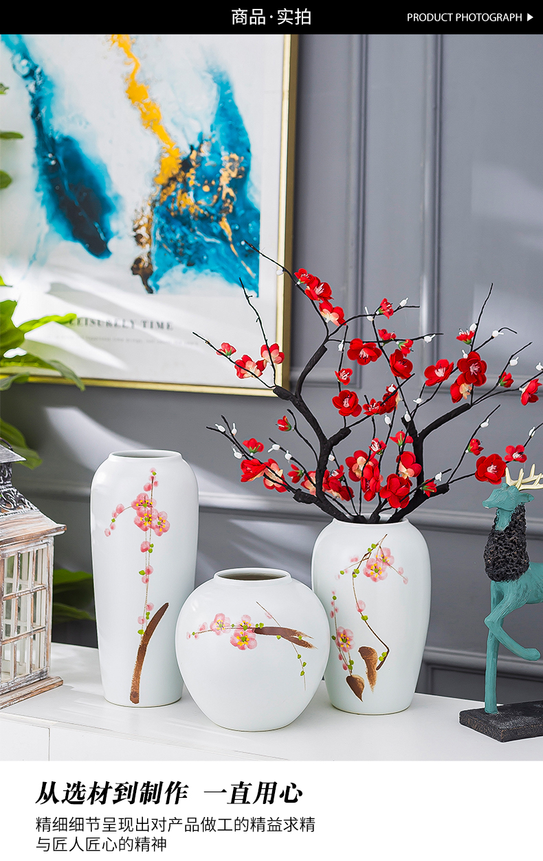 Jingdezhen new hand - made ceramic furnishing articles of the new Chinese style table decoration decoration flower arranging dried flowers I and contracted sitting room