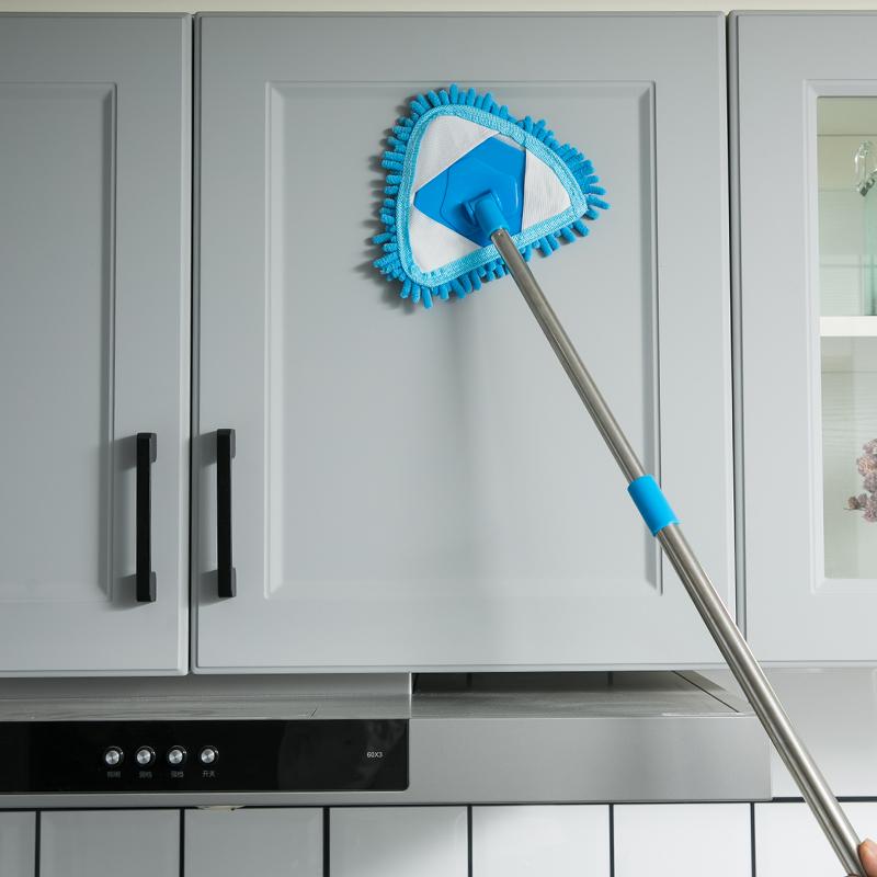 三角万能小拖把干湿两用可伸缩家用天花板清洁神器懒人一拖轻便净