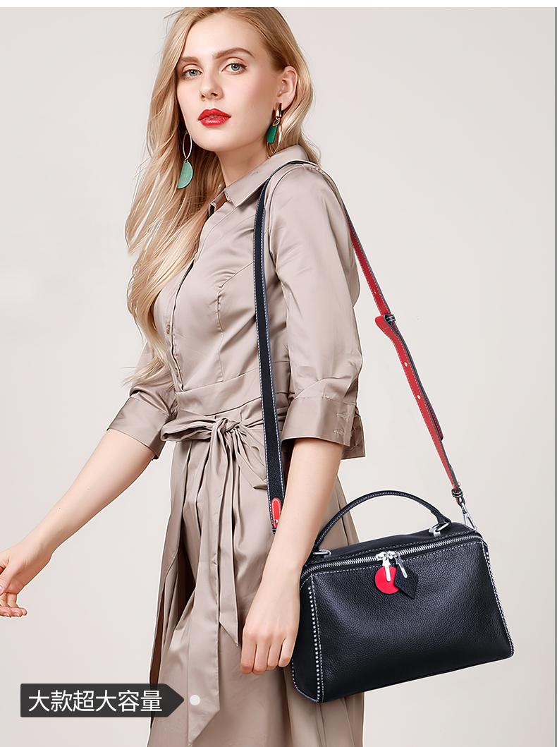 澳迪佳软皮小包包女新款潮韩版时尚真皮单肩斜揹包女气质手提详细照片