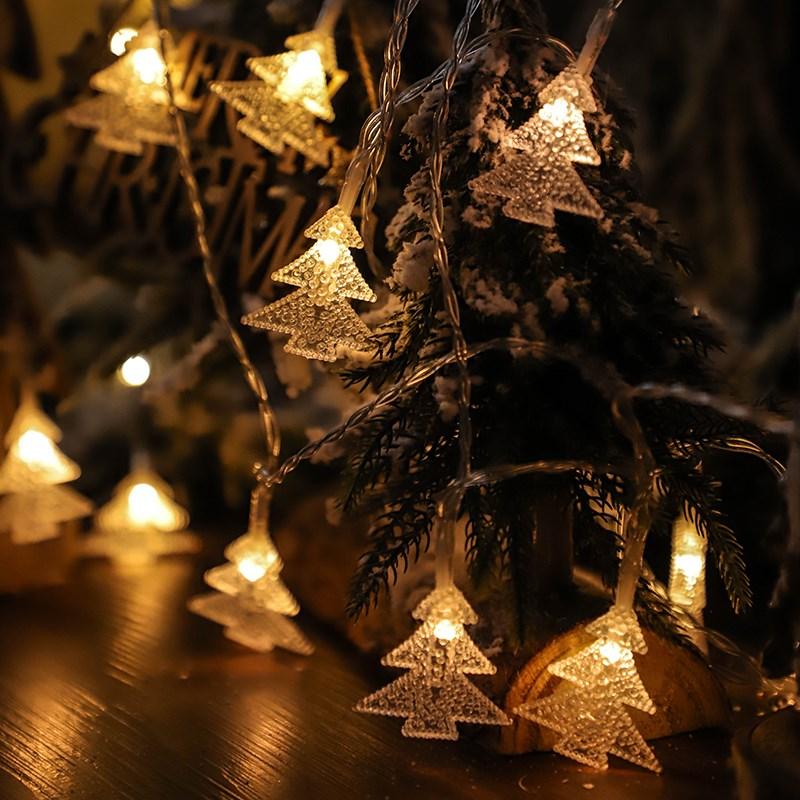 led彩灯闪灯串灯新年装饰节日圣诞节布置a彩灯过年挂灯圣诞树用品