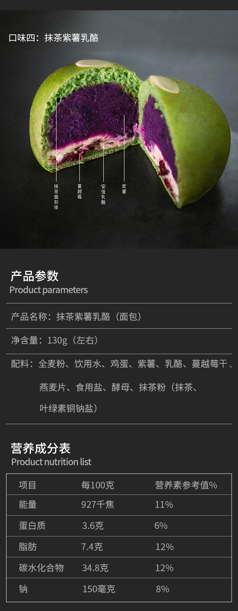 全麦麵包无添加蔗糖鲔鱼麻薯芋泥乳酪网红欧包健身代餐卡卡业详细照片