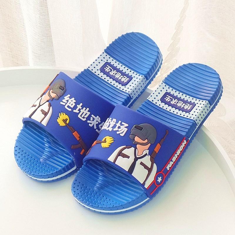 √8-16岁男大童凉拖鞋夏室内防滑家用中大童男童拖鞋卡通大男孩。