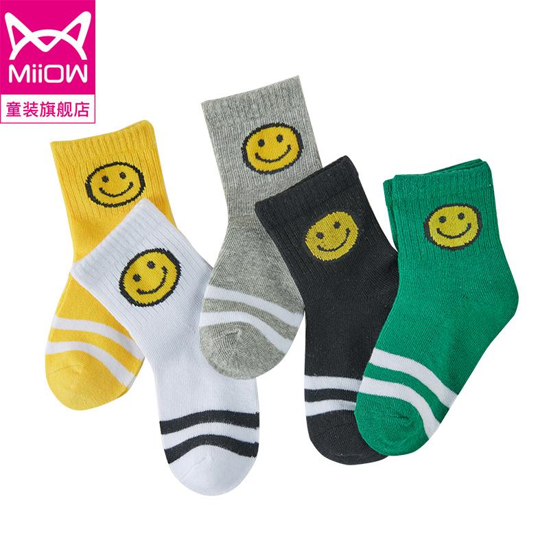 儿童袜子纯棉秋冬季男童女童中筒棉袜中大童加厚男孩宝宝婴儿秋季