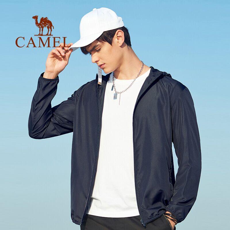 骆驼男装防晒衣2021新款夏季防紫外线透气运动户外皮肤衣薄款外套