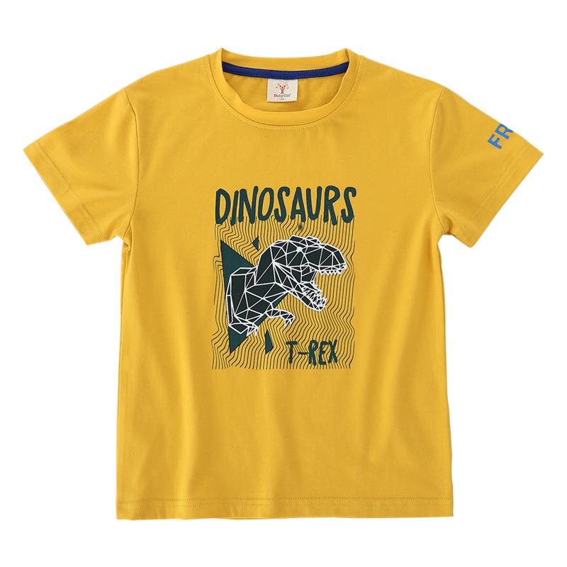比比树童装男童短袖T恤2019夏装新款中大童儿童小学生夏季体恤衫