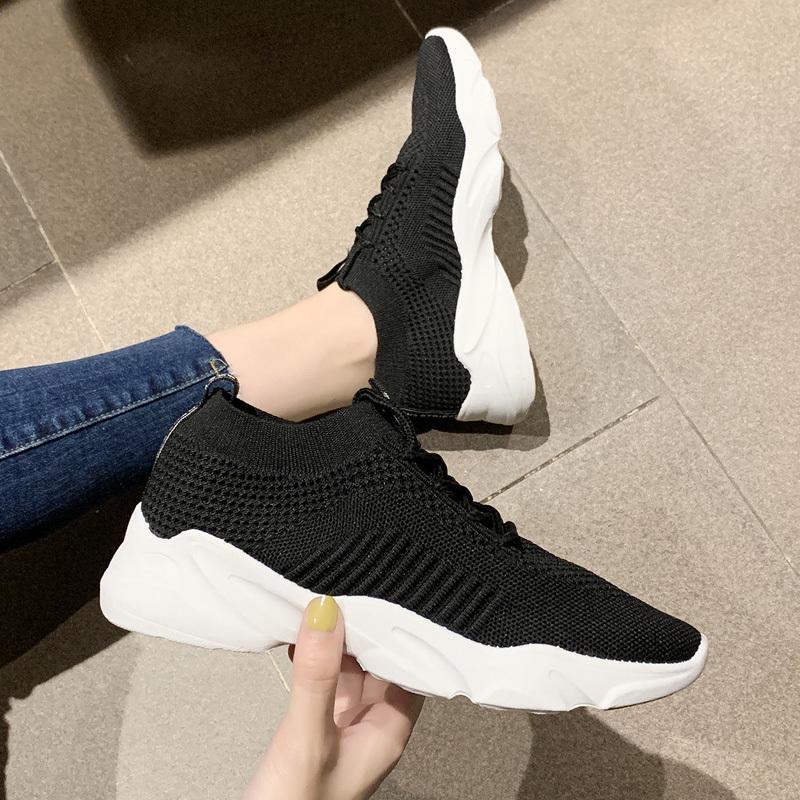 2020韩版百搭镂空网面透气运动鞋