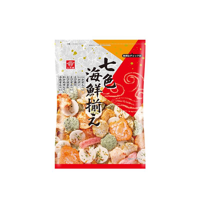 【直营】日本进口三河屋七色海鲜味混合米饼