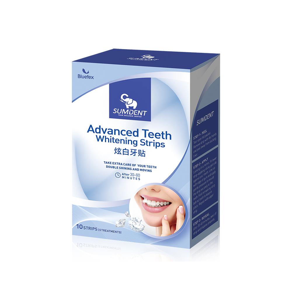 【3盒】Bluetex蓝宝丝炫白牙贴牙齿去黄美白神器烟渍咖啡渍牙斑