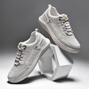 固特异男鞋春季2020新款百搭休闲鞋真皮磨砂运动板鞋英伦韩版潮鞋