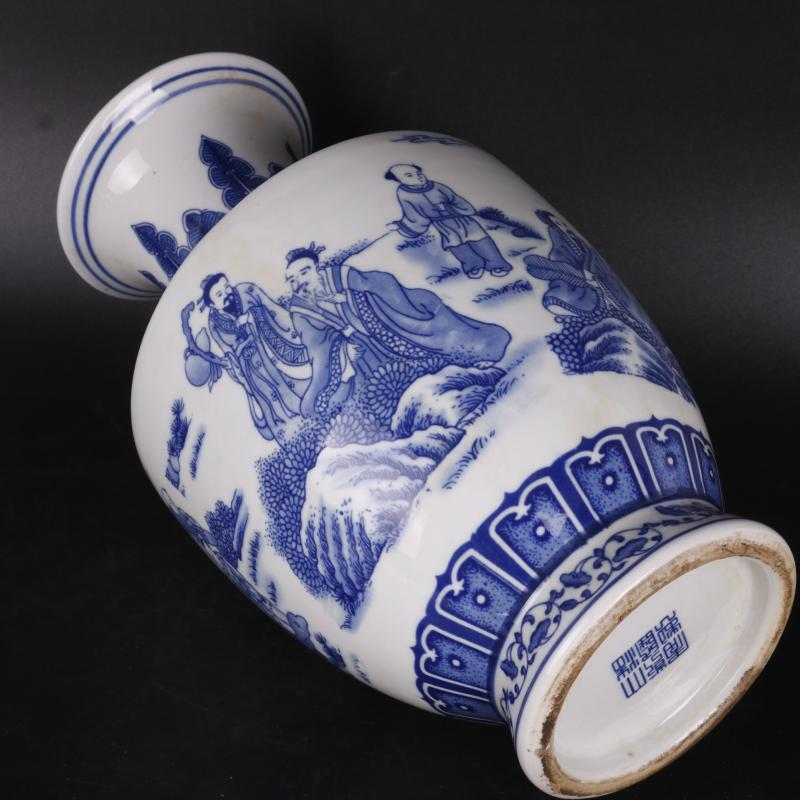The Qing qianlong character wen party, pointed to the design applique antique porcelain household of Chinese style furnishing articles old goods collection process
