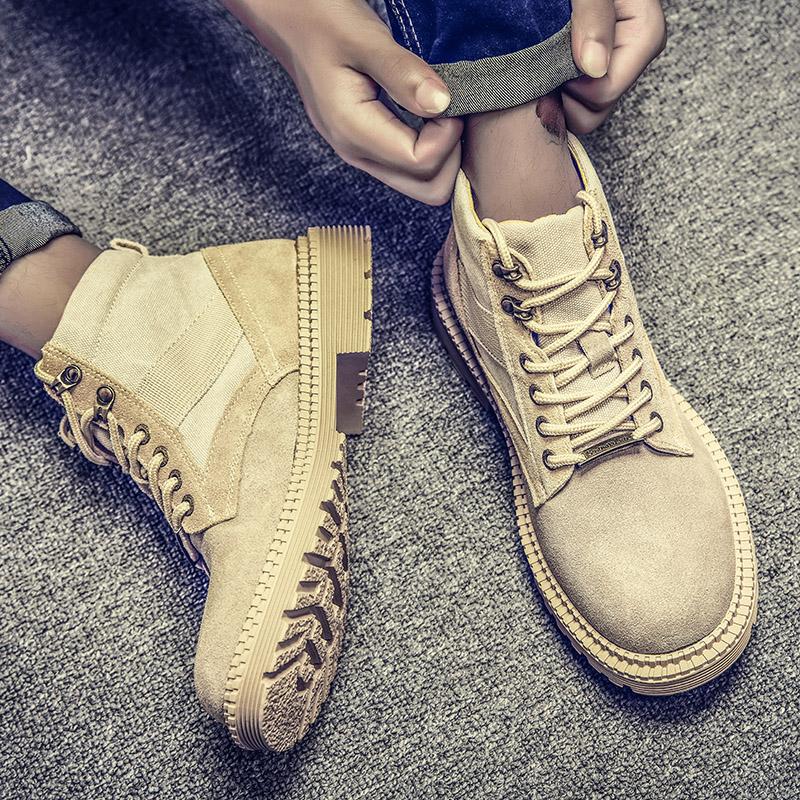 夏季透气中高帮英伦风马丁靴
