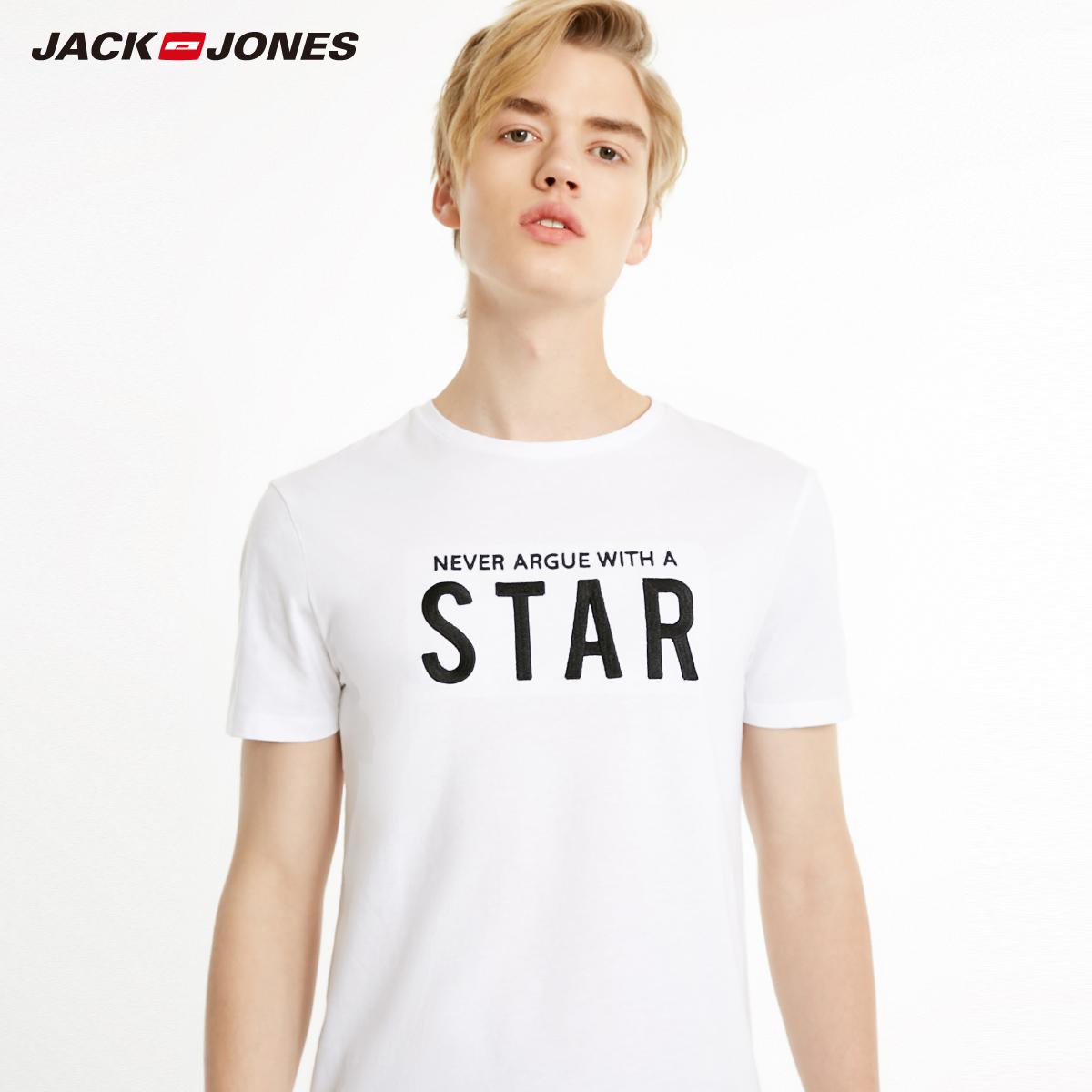 JackJones Jack Jones ra mắt mùa xuân thời trang nam kinh doanh thời trang thư tay áo thun ngắn tay - Áo phông dài