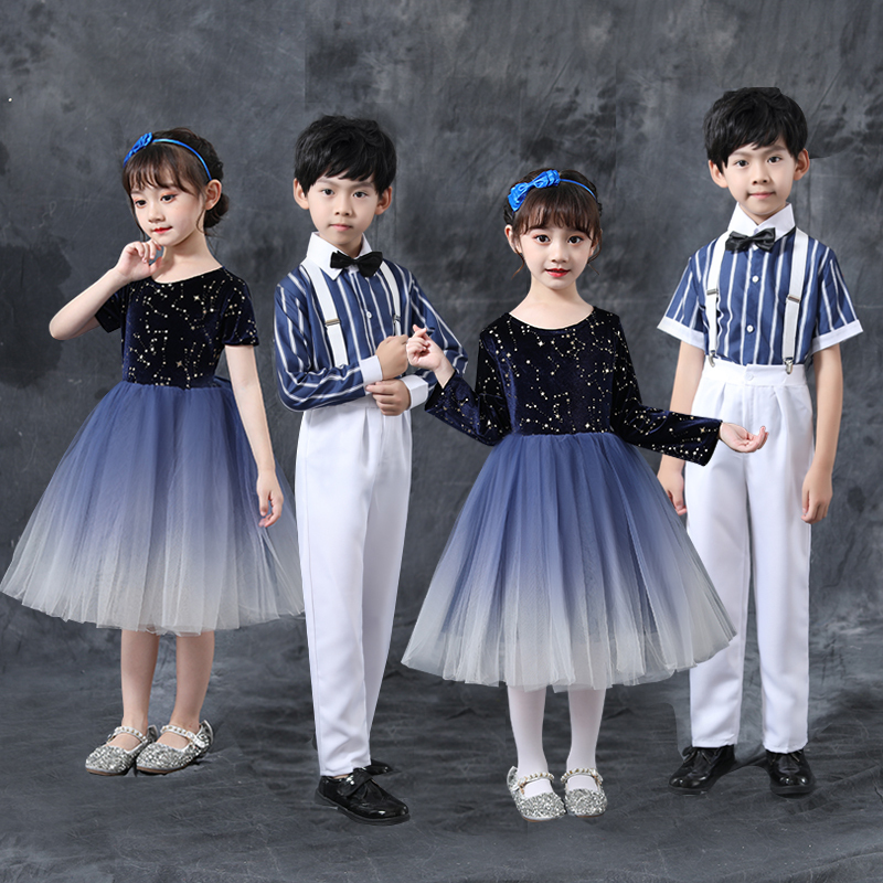 Girls Jazz Dance Costumes Children's Choir, choir, children's Choir, boy's host, dress, poetry recitation, performance costume