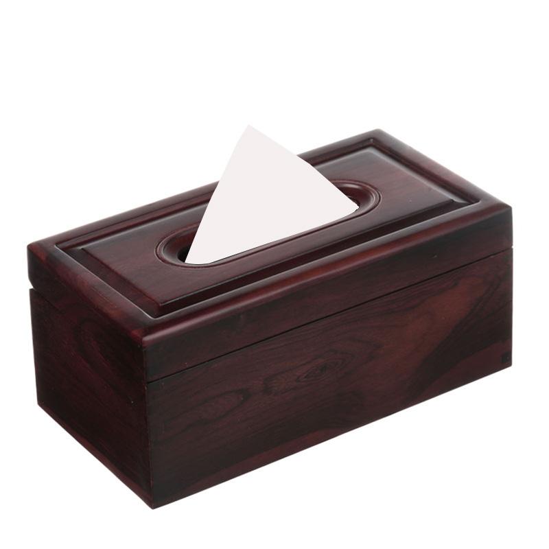 大红酸枝纸巾盒木质家用花梨实木纸抽盒客厅创意新中式红木抽纸盒