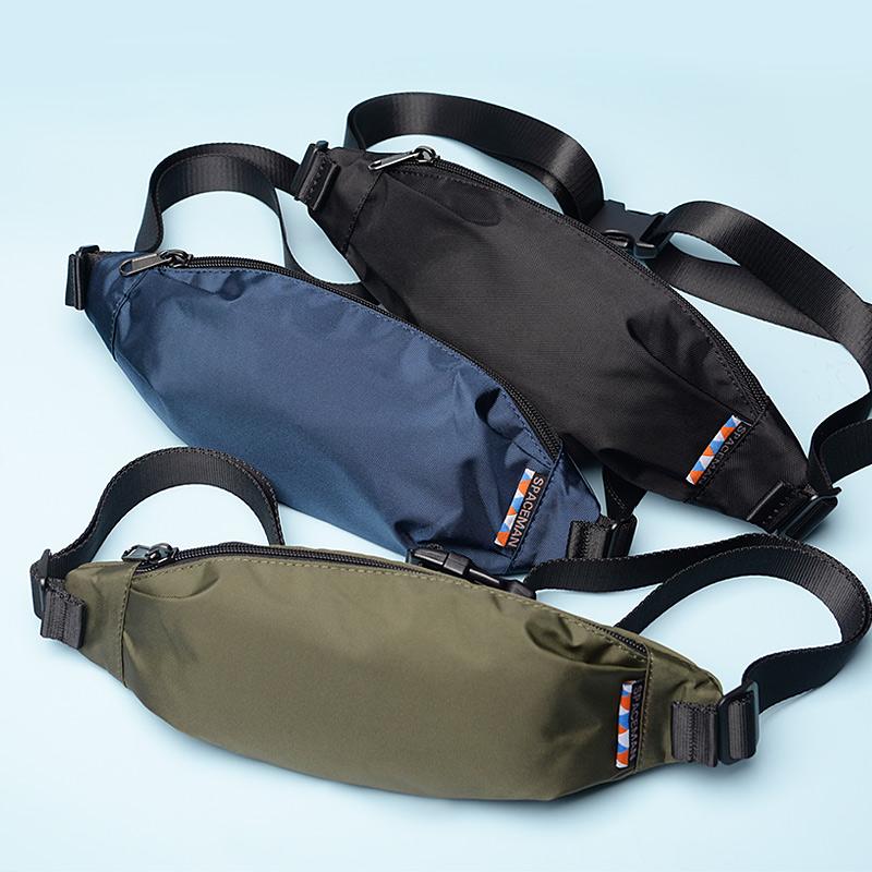 男士腰包休闲跑步手机包户外运动胸包单肩斜挎包帆布包潮男小包包