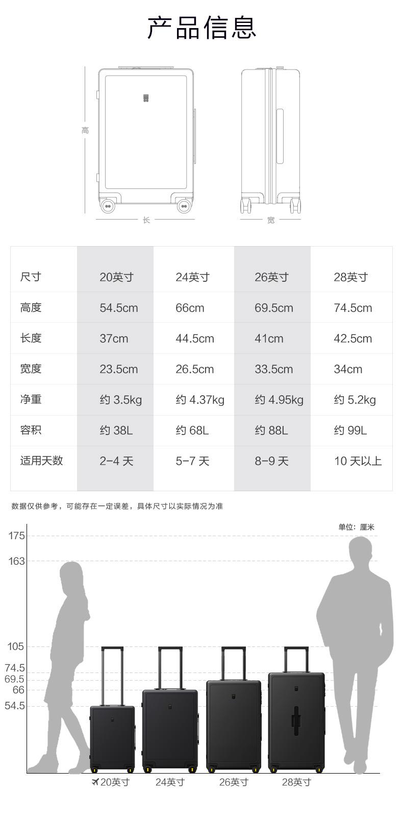 地平线号拉桿箱男寸大容量登机旅行箱学生密码箱女寸行李箱详细照片