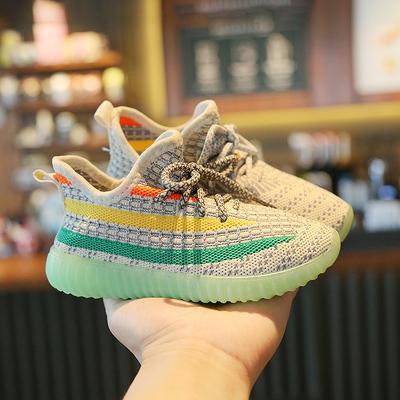 儿童运动鞋2021新款春秋季椰子鞋男童鞋子透气中大童网面女童网鞋