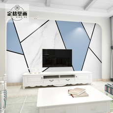 Nordic TV backdrop wallpaper modern minimalist living room atmosphere 5d decorative geometric wallpaper mural wall covering film
