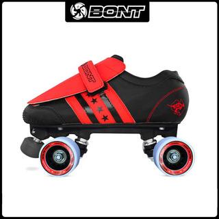 Коньки роликовые 4-х колёсные,  BONT Quadstar двойной стороной нескользящей обуви блок бар двойной коньки мораль соотношение катание на коньках Roller Derby, цена 7477 руб