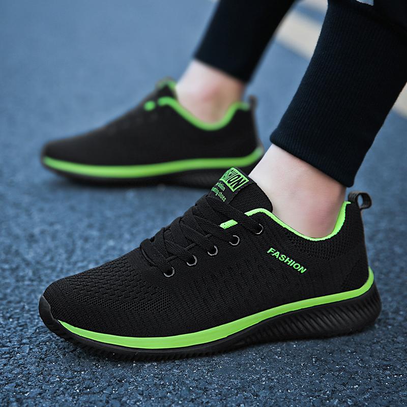 夏季新款男士网面飞织男鞋学生青少年休闲百搭透气运动网面男跑鞋