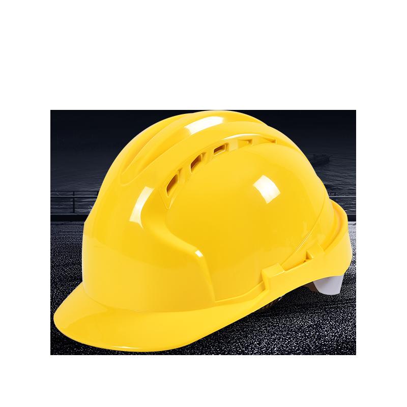 安全帽 工地透气建筑工程帽 领导监理加厚电工防砸玻璃钢头盔印字