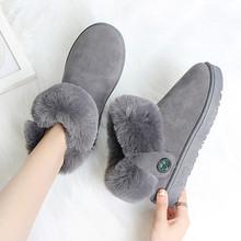 冬季新款加绒保暖雪地靴女