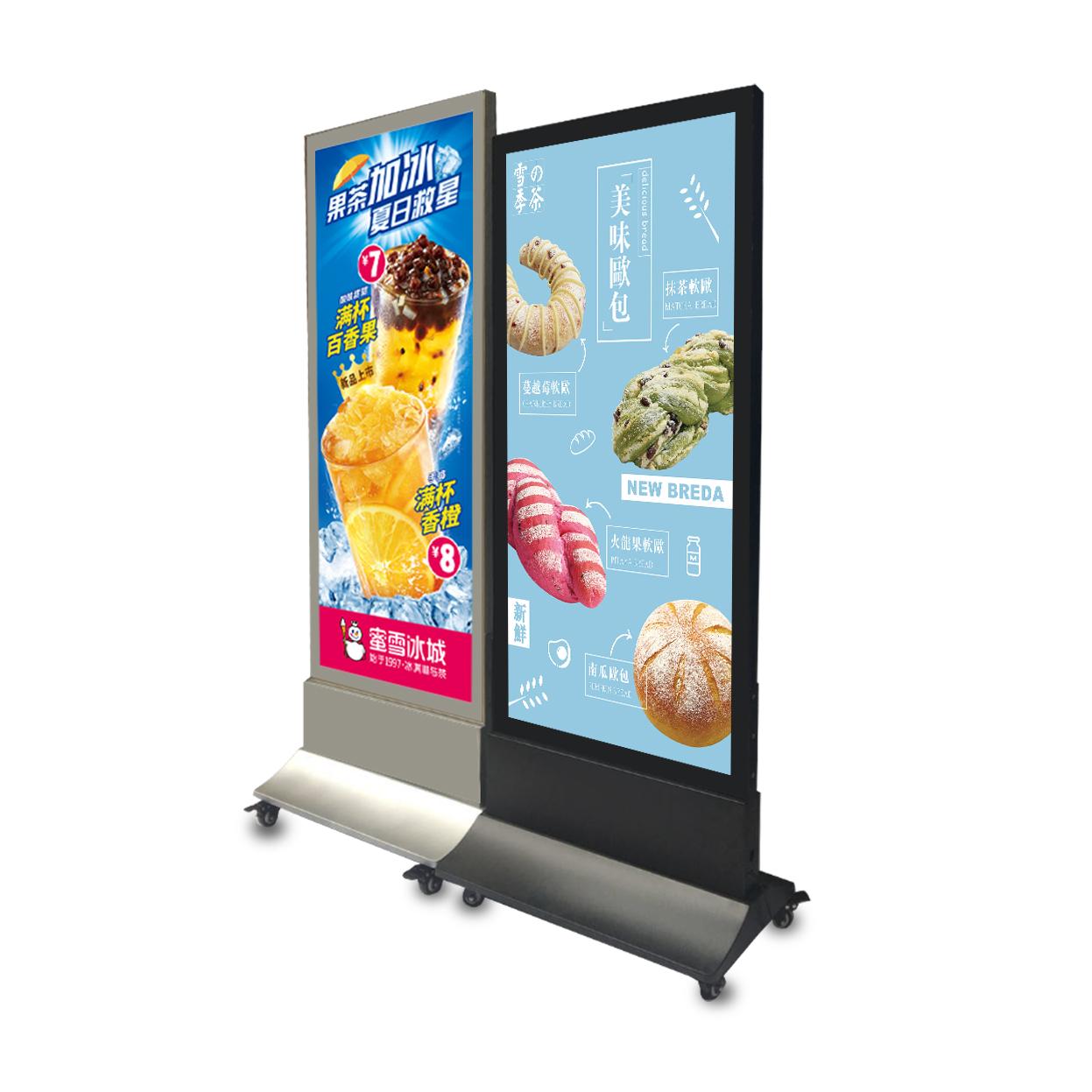 示牌定制led双面单面超薄地立式灯箱v双面防水展磁吸点餐广告牌