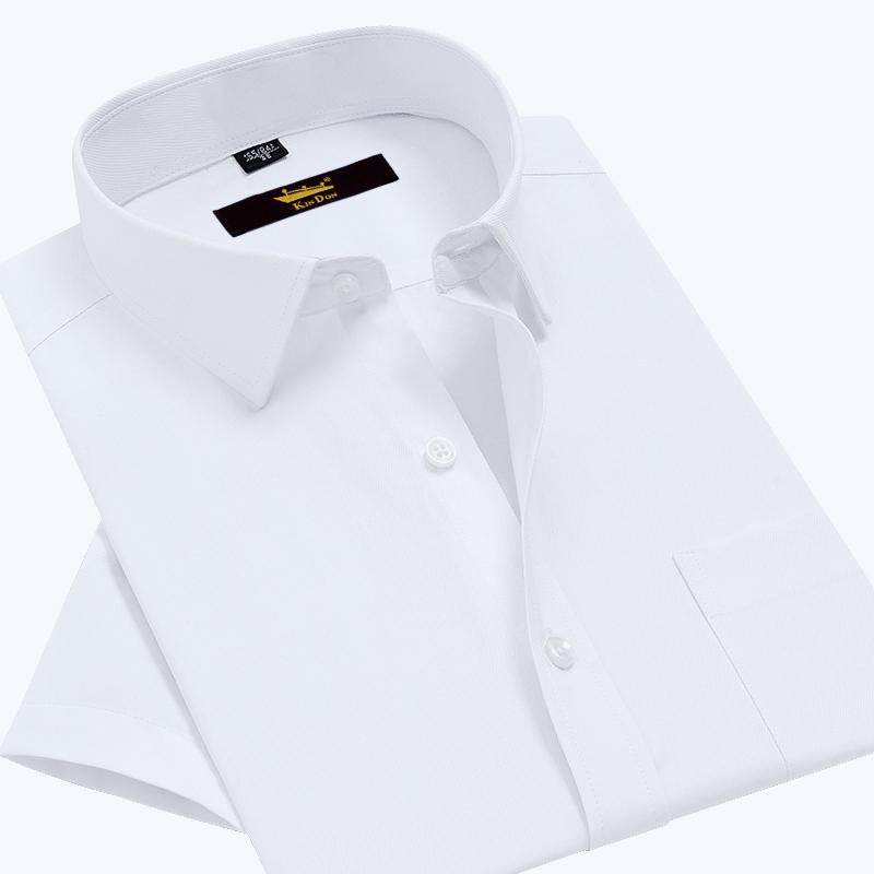 KIN DON/金盾衬衫男士短袖中青年商务休闲夏季斜纹工装半袖白衬衣