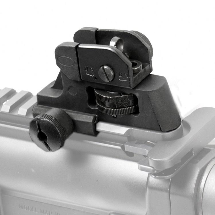 CQB金属后准司骏M4JM9代M4A1下供软弹改装JM13后准金属机械瞄