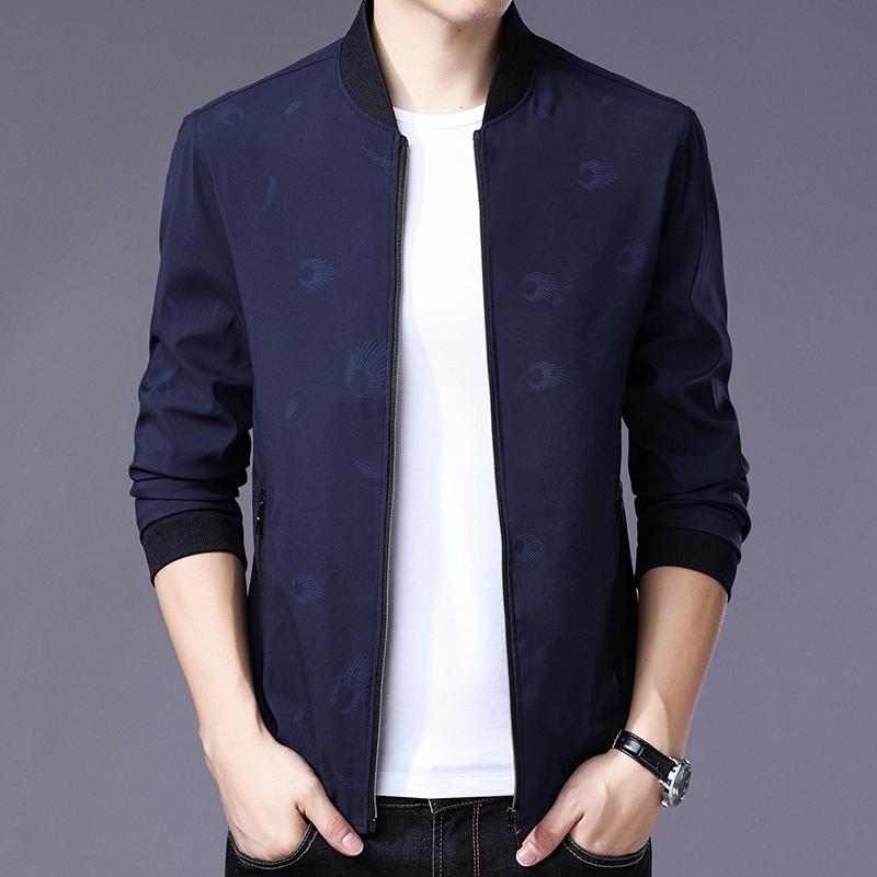丰页秋季新款男士夹克薄款外套时尚百搭中青年上衣修身百搭男外套