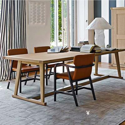 馨逸緣0221066會議桌長桌簡約現代工業風家具loft辦公桌大板桌大桌子實木辦工桌
