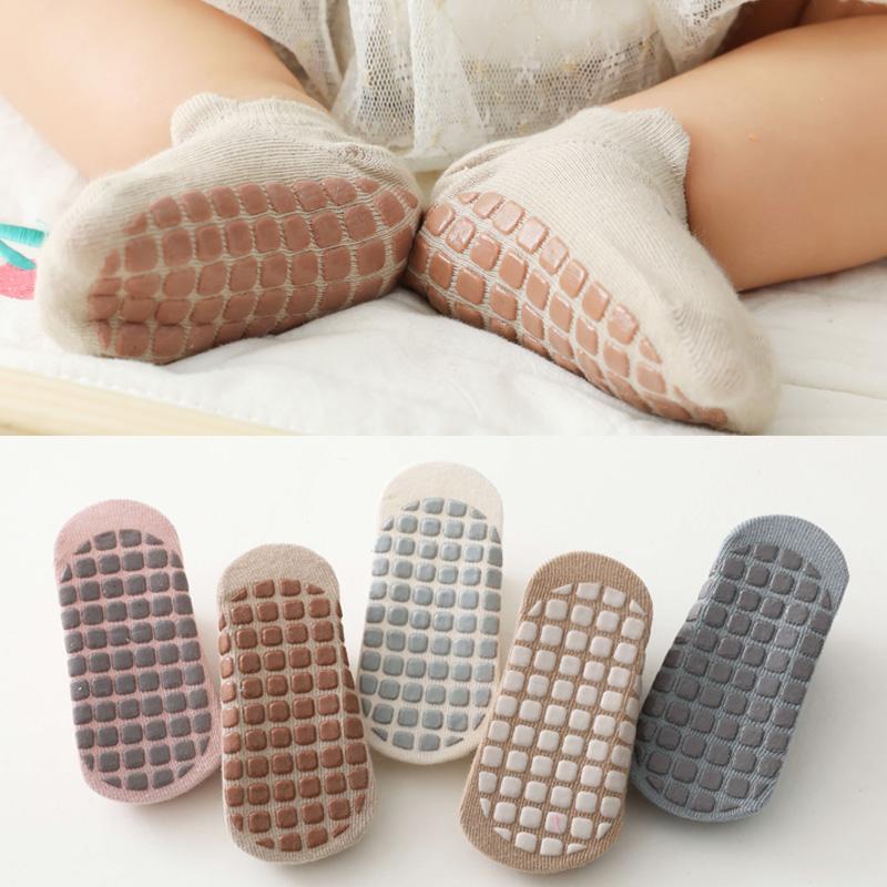 婴儿地板袜夏季薄款爬行室内早教学步无骨儿童防滑袜居家宝宝船袜